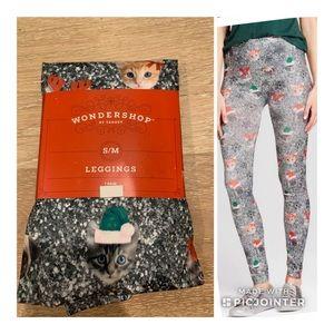 Target Wondershop Elf Christmas Cat Leggings S/M